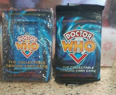 Doctor who 1973 starter deck cards pack and doctor who booster pack new whovian
