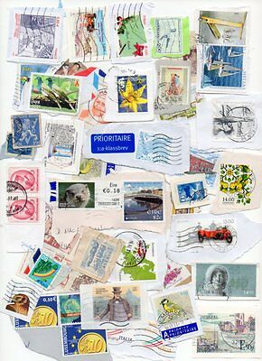 1 Kilo Of World Stamps All On Paper Excellent Lot