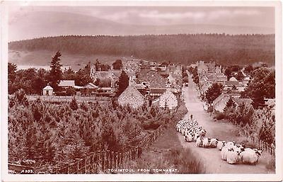 RP Vintage Postcard TOMINTOUL Village From TOMNABAT Ballindalloch Moray Scotland