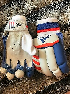 adidas leather goal keeper gloves small boy suit 8-10 yrs