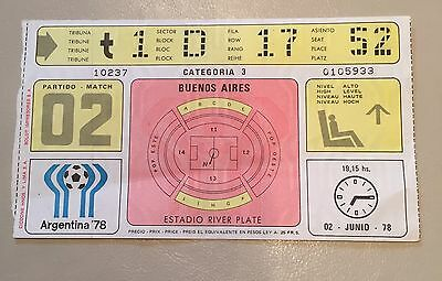 World Cup 1978  Ticket Argentina V Hungary Game 2