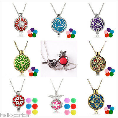 Lady Womens Fashion Aromatherapy Pendant Necklace With Multi-colour Aroma Ball