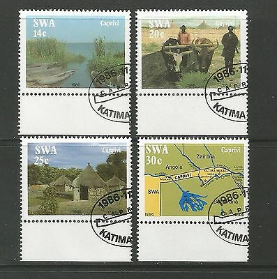 South West Africa  1986  SG.467-470  Life in the Caprivi Strip  used cto