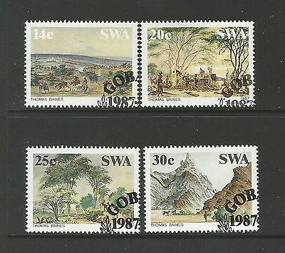 South West Africa  1987  SG.471-474  Paintings  used cto