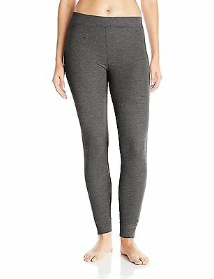 Cuddl Duds Women's Thermal Legging, Charcoal Heather, X-Small