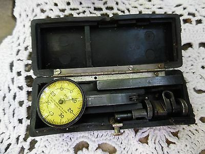 Classic Federal Testmaster .0001 Dial Test Indicator W/ Case Machinist Tool