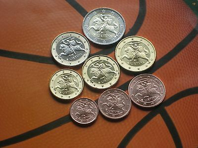 Lithuania euro coin full set (from 1c to 2e)  8 coins, 2015, UNC