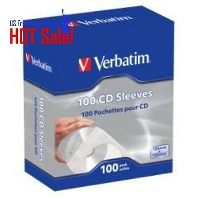 100 x CD/DVD Paper Sleeves Clear Window Flap White Envelope Premium Case Pack