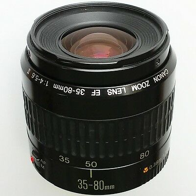 Canon EF (EOS) 35-80mm f/4-5.6 II full-frame AF macro zoom lens. Excellent cond!