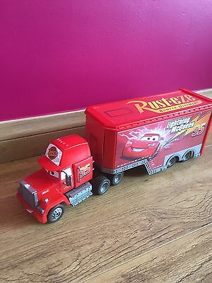"Disney Pixar Cars Mega Mack Lorry Truck With Cab 16"" Long"