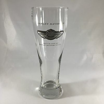 Harley Davidson 100th Anniversary Pilsner Tall Beer Glass