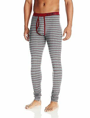 2xist Men's Essential Long John, Heather Grey Yarn Dye, Large