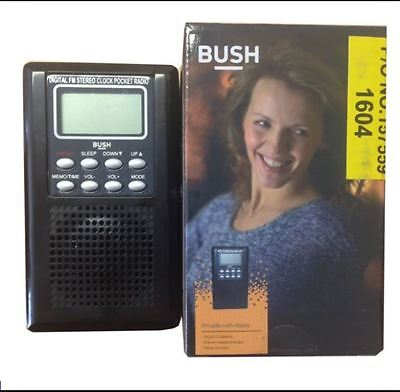 Bush Personal Pocket Size FM Radio With Black Built In Speaker