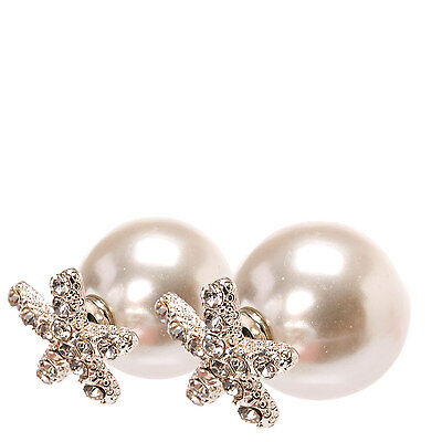 Claire's Accessories Crystal Faux Starfish and White Faux Pear Earrings - NEW!
