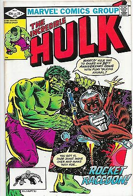 Incredible Hulk #271 Bronze Age Marvel Comics 1st Rocket Raccoon VF