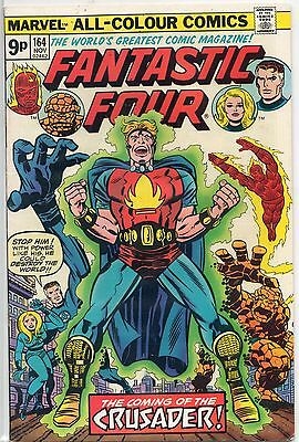 The Fantastic Four #164 1st Appearance Crusader & Frankie Ray  UK Variant VF