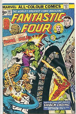 The Fantastic Four #167 Bronze Age UK Price Variant Marvel Comic VF