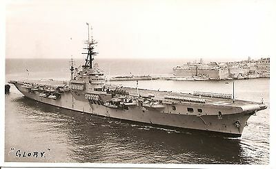 PAVIA, MALTA,   HMS GLORY,  R62.,   1952,  Colossus class Aircraft Carrier