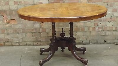 Victorian Inlaid Burr Walnut Loo Table
