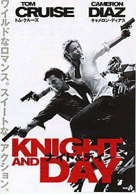 KNIGHT AND DAY-2010 -black white Japanese Movie Chirashi flyer(mini poster)