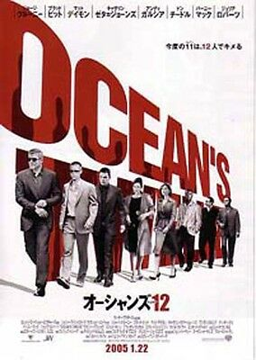 OCEAN'S TWELVE-characters-2004 Japanese Movie Chirashi flyer(mini poster)