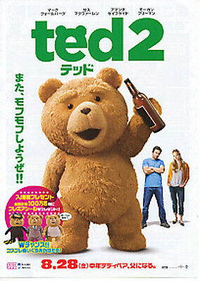 TED 2-2015 Japanese Movie Chirashi flyer(mini poster)