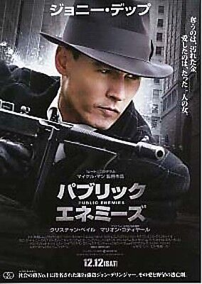 PUBLIC ENEMIES-2009-face on the shoulder Japanese Movie Chirashi flyer(mini post