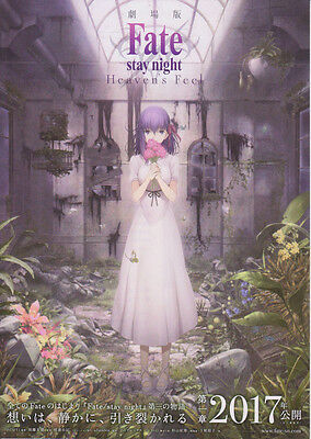 Fate stay night: Heaven's Feel-2017 Japanese Movie Chirashi flyer(mini poster)