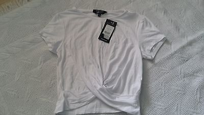 girls cropped top bnwt age 12-13