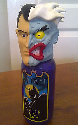 """TWO-FACE Bubble Bath Bottle from """"Batman The Animated Series"""" 90s DC Comics"""