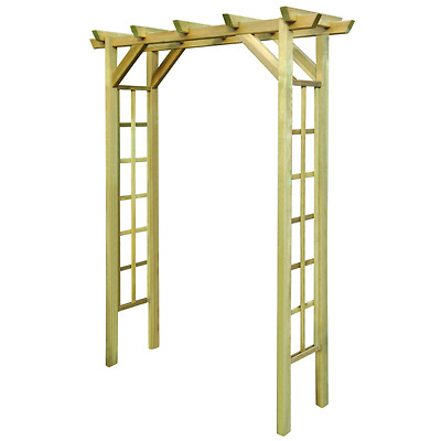 Wooden Garden Arch Outdoor Arbour Decor Climbing Plants Flower Rose Home Patio