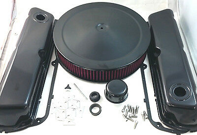 SB Ford SBF Black Engine Dress Up Kit  W/ Washable Element  260 289 302 351W