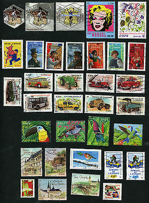 Lot de 55 Timbres Stamps FRANCE oblitérés used - 2003
