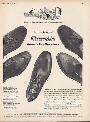 Church's Shoes Original Mag Advert A4 Size Poster
