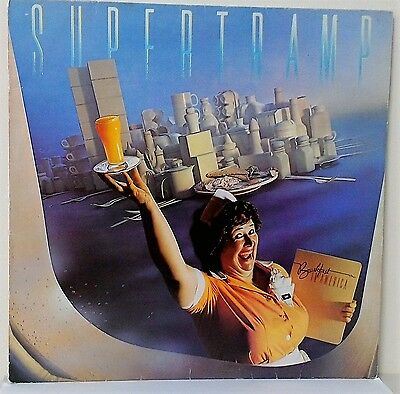 Supertramp~Breakfast In America~Amlk 63708~+Lyric Inner~1979 Uk Vinyl Lp~Ex-/ex
