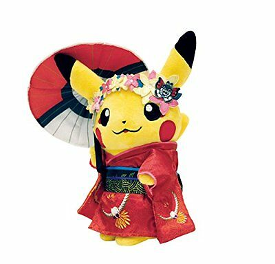 Pokemon Center Original Pikachu Maiko Han Geisha Plüschtier (Japan Import)