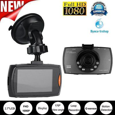 "2.7"" Autokamera Recorder KFZ DVR Überwachung Dashcam HD 1080P Video + TF KarBV"