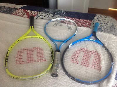 Wilson, Head tennis rackets 3 total used
