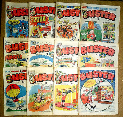 12x Vintage Buster Comics 1981 IPC Publishing