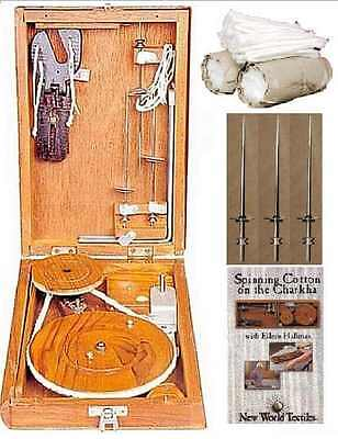 Charkha Spinning Kit with Instructions in DVD.