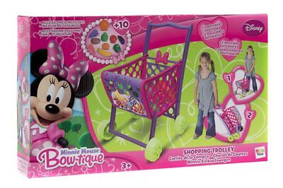 Disney Junior Minnie Mouse Toy Shopping Supermarket Trolley Inc Play Food New