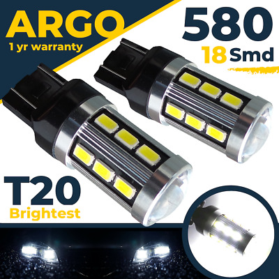 T20 7443 580 White Cree Led Drl Bulbs/ Sidelight Vauxhall Insignia And Astra J