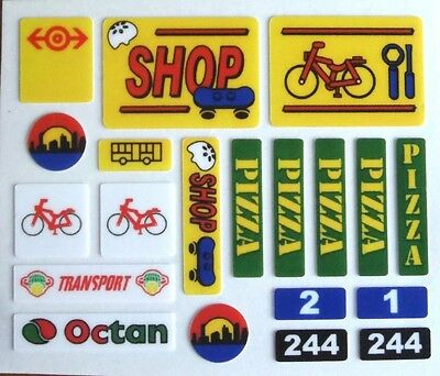REPLACEMENT Stickers Sheet  for LEGO 7641 - Town / City - City Corner