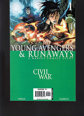 Marvel Young Avengers And Runaways 1, 2, 3, 4, All First Prints Direct Edition