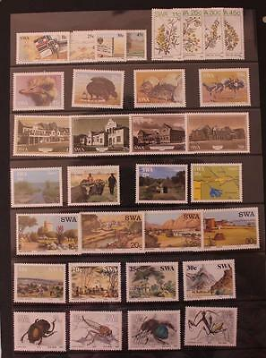 Namibia South West Africa 1984-1987 8 Sets Ostrich Ships Flowers Insects