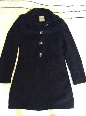 Women's TU Black Winter Coat. Size 8 Small. Smart Jacket