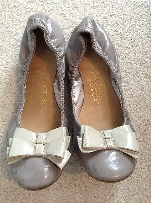 Primark Atmosphere Ballet Pumps Size 7 40. Grey Bow Flat Shoes Women's