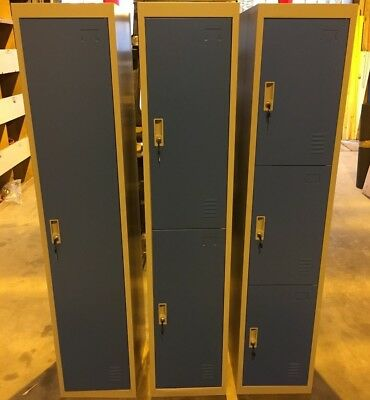 Metal 1,2,3,4,5 or 6 Door Key Lockable Staff / Gym / Storage Locker