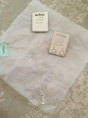 Alan Hannah Devoted Designer Bridal Necklace and Earrings