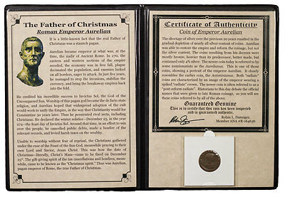 Roman Empire Bronze Aurelianus of Aurelian Father of Christmas with COA SKU47199